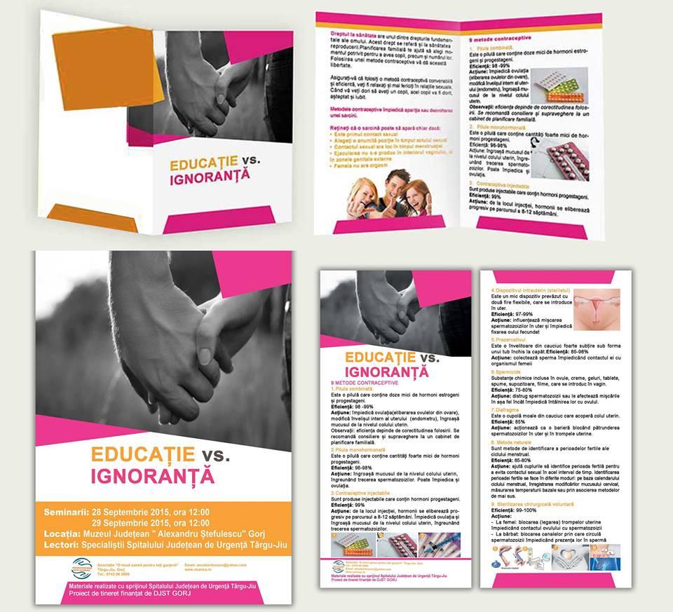 Educatie ignoranta, design flyer, design afis, adolescenta