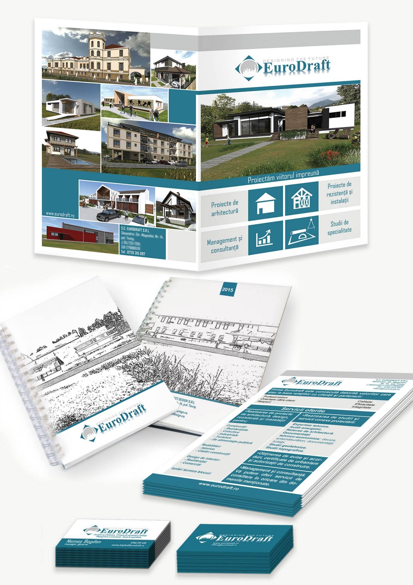 proiectare, identitate vizuala firma de proiectare, EuroDraft